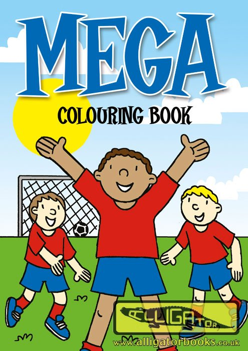 Mega Colouring Bk(Pink)